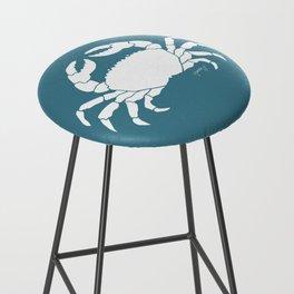 Crab Teal Background Bar Stool
