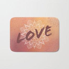 Love et Mandala rose Bath Mat