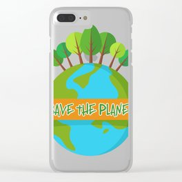 Save The Planet Shrits Environmental Awareness Earth Day Clear iPhone Case