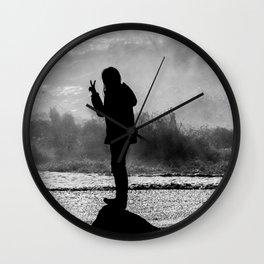 Peace. Wall Clock