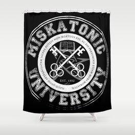 Miskatonic University Emblem (Dark version) Shower Curtain