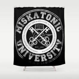 Miskatonic University Emblem (Dark version) Shower Curtain