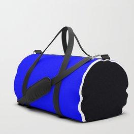 TEAM COLORS 10.....BLUE , BLACK, WHITE Duffle Bag