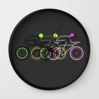 posters Wall Clocks featuring Olympic Posters - Cycle  by Samar