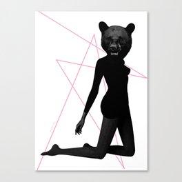 Bear Face Canvas Print