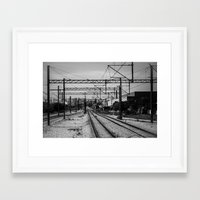 train Framed Art Prints featuring Train by Maressa Andrioli