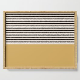 Texture - Black Stripes Gold Serving Tray