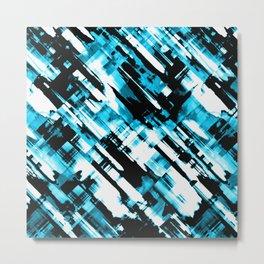 Hot blue and black digital art G253 Metal Print