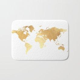Textured Gold Map Bath Mat