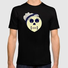 Day of the Dead Pin-up Black Mens Fitted Tee SMALL