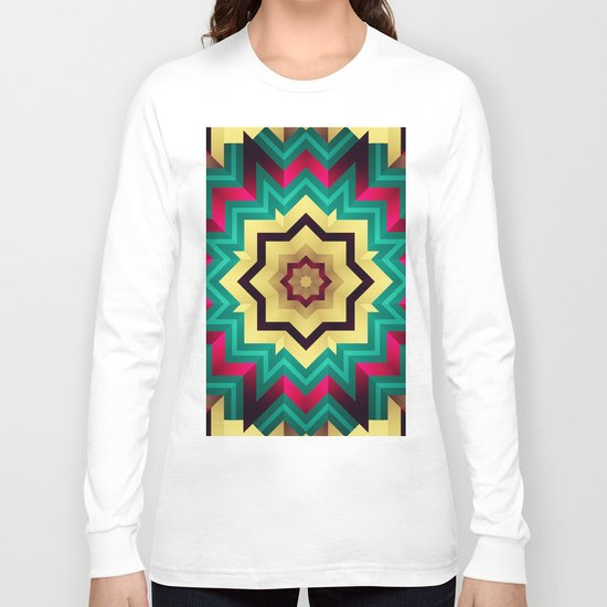 Geometric kaleidoscope with star shapes Long Sleeve T-shirt