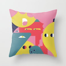 Folks! Throw Pillow