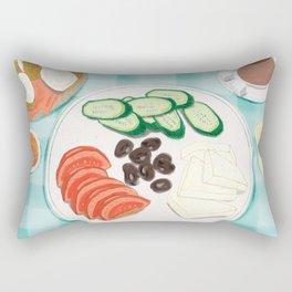 Fresh Home-cooked Turkish Breakfast Rectangular Pillow