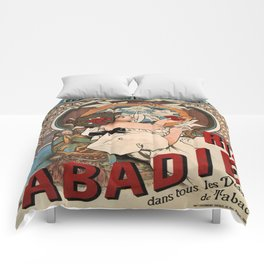 Vintage poster - Abadie Cigarettes Comforters