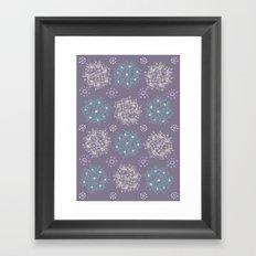 Lilac Clusters Framed Art Print