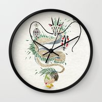 spirited away Wall Clocks featuring spirited away by Manoou
