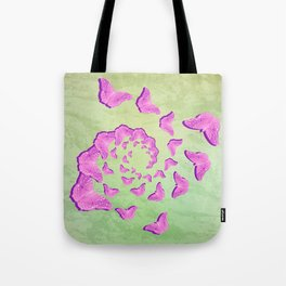 Abstract pink butterflies in swirling vortex Tote Bag
