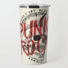 Punk Rock Skull Travel Mug