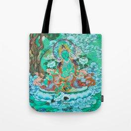 Green Tara Tote Bag