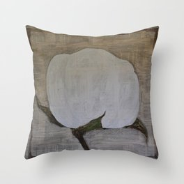 Southern High Cotton Boll  Throw Pillow