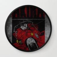 akira Wall Clocks featuring AKIRA by Zorio