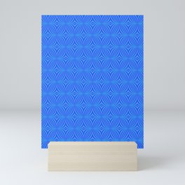 HYPNOTIC  Blue Diamond Tile Pattern Mini Art Print