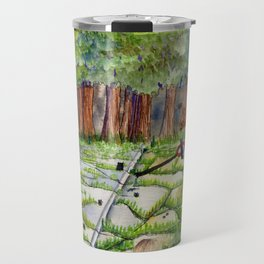 Slipping Away: Even Giants Fall Travel Mug