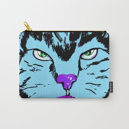 Cat in blue  Carry-All Pouch