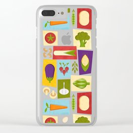 Farm to Table_pattern Clear iPhone Case