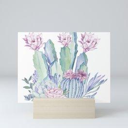 Desert Love Cactus + Succulents Mini Art Print