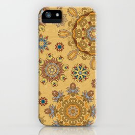 Floral pattern with stylized snowflakes. Christmas winter snow theme pattern. iPhone Case