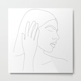 Anya Line Drawing Metal Print