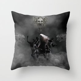 Laughing at my disaster Throw Pillow