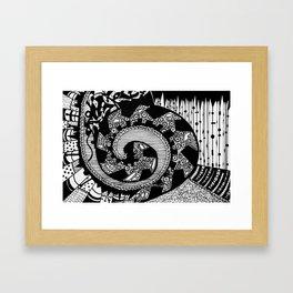 Wheeling Around Framed Art Print
