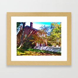 Cabin In the Morning! Framed Art Print