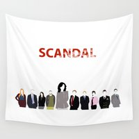 minimalism Wall Tapestries featuring Scandal Minimalism by Bel17