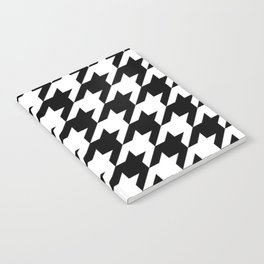 retro fashion classic modern pattern black and white houndstooth Notebook
