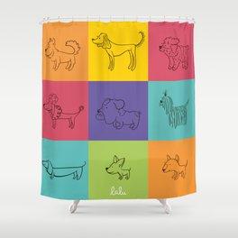 2018 Año del perro!! Shower Curtain