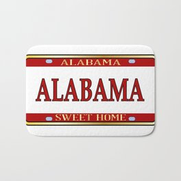 Alabama State Name License Plate Bath Mat
