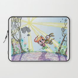Laughing Along the Path - One Boy and a Toy Laptop Sleeve