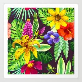 Tropic Flowers II Art Print