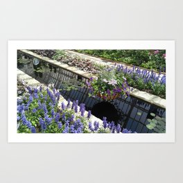 Purple Sunken Garden Art Print