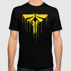 The Last Of Us Fireflies (Yellow) MEDIUM Black Mens Fitted Tee