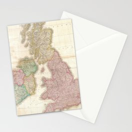 Vintage Map of The British Isles (1818) Stationery Cards