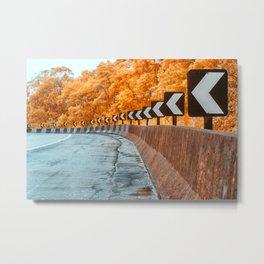 Highway Curve Metal Print