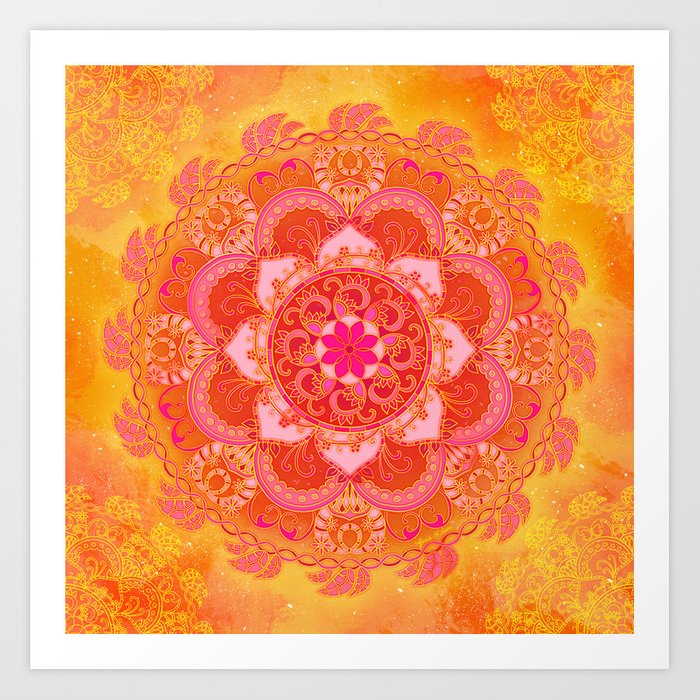 Sun Bliss Art Print