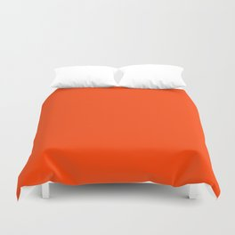 Bright Fluorescent Neon Orange Duvet Cover