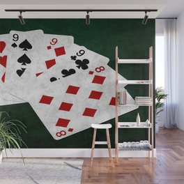 Poker Four Of A Kind Nine Eight Wall Mural