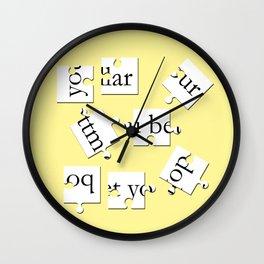 bottom dollar puzzle - yellow Wall Clock