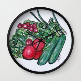 Freshly Uncut Salad Wall Clock